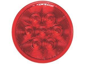 "Peterson V826KR-7/3 LED Stop, Turn & Tail Light, 4"" Round, Red"