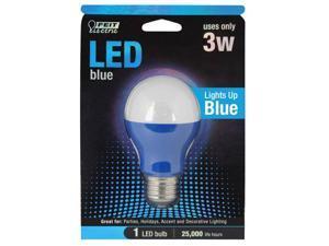 A19/R/Led 3 Watt, Led Blue A-Shape Party Bulb Feit Electric Lighting A19/B/LED