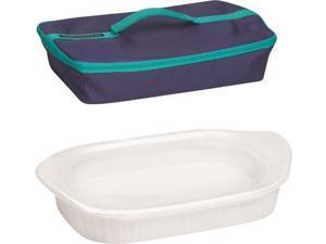 CorningWare 1117889 Baking Dish with Lid and Portable Case, 1-1/2 Quart