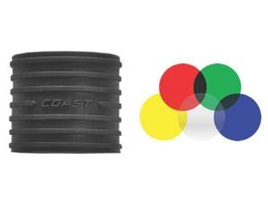 Coast 20186 LF100 Flashlight Lens Filter Kit, 5 Lens