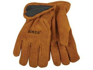 50Rl Men's Lined Suede Cowhide Leather Gloves Thermal Insulation, Work, Medium