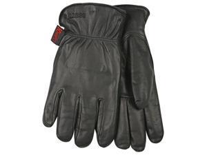93Hk-M Lined Grain Goatskin Leather Drivers Glove, Medium, Black Kinco Gloves