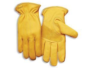 Leather Grain Cowhide Work Gloves W/ Heatkeep Large Kinco Gloves 198HK-L