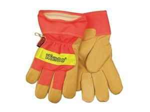 1-Pair Large Leather Gloves, Lime Green Kinco Gloves 1938-L 035117519381