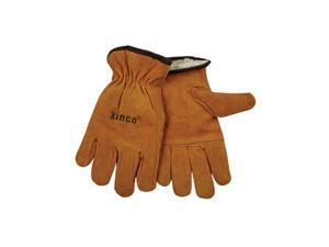 51Pl-M Lined Split Cowhide Leather Driver Gloves, Medium Kinco Gloves 51PL-M