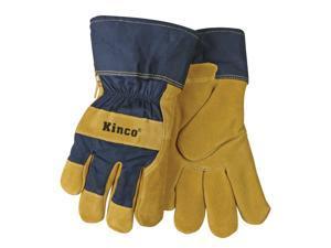 1926-L Lined Split Pigskin Leather Palm Gloves, Large Kinco Gloves 1926-L