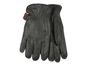 Kinco 93HK-XL Lined Grain Goatskin Leather Gloves, X-Large, Black