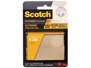 "Scotch RF5730 Outdoor Fasteners, 2 Sets of Strips, 1"" x 3"", Clear"