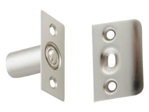 "National Hardware N335-950 Steel Ball Catche, 1"" x 2-1/8"", Satin Nickel"