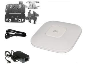 AIR-AP1142N-A-K9 Cisco Aironet 1142N Access Point - IEEE 802.11n (draft) 300Mbps - 1 x 10/100/1000Base-T  - Includes Rack Mount Kit, AC Adapter & Power Cord