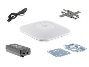 AIR-LAP1142N-A-K9 Complete Kit Includes: Cisco AIR-LAP1142N-A-K9 Access Point, AIR-AP1140MNTGKIT, (Wall/Ceiling Mount), AIR-PWRINJ4 (PoE Power Injector)