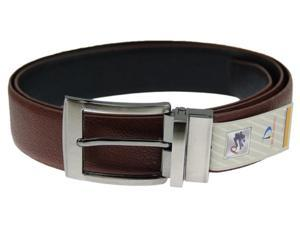 Luxuries Leather Belt Reversible Black and Brown Color Silver tone Buckle