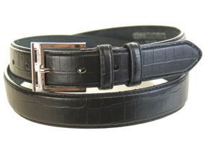 Mens Casual Black Leather Belt - Size Medium