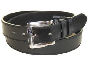 Casual Leather Black Belt by Jeans - Size Large