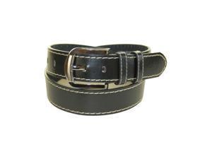 Black Bonded Casual Leather Belt