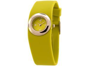 FMD Ladies Standard 3 Hand Analog Silicone Watch in Light Green by Fossil