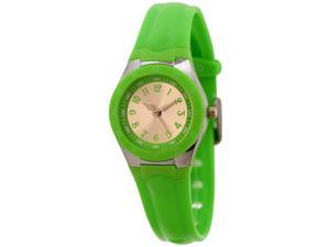 FMD Ladies Standard 3-Hand Analog Green Silicone Watch by Fossil