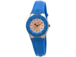 FMD Ladies Standard 3-Hand Analog Blue Silicone Watch by Fossil