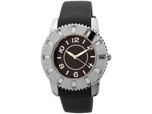 FMD Ladies Silicone Watch with Crystal Accents