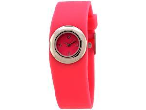 FMD Ladies Standard 3 Hand Analog Light Pink Silicone Watch by Fossil