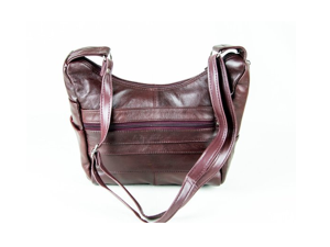 Cowhide Leather Handbag in Taupe