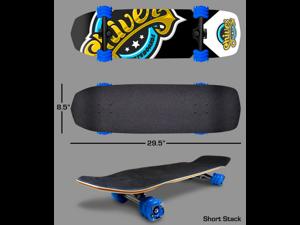 Shark Wheel Complete Skateboard (Shiver Skateboard, 60mm Blue Wheels)