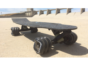 Shark Wheel Rover - 100% Carbon Fiber Mini-Skateboard