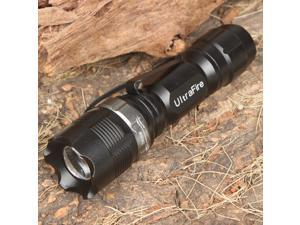 Aikoi UltraFire 3-Mode 160LM Convex Lens White LED Flashlight w/ Clip/Carrying Strap (1 x AA)