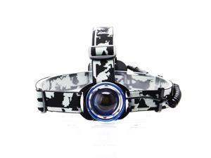 Aikoi zsj 800lm Cool White 3-Mode Zooming Headlamp w/ Cree XM-L T6 - Blue + Silver (1 x 18650)