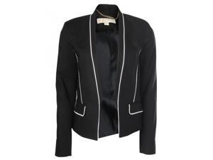 Stretch Cotton Piped Suit Jacket