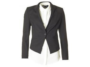 Glass Stretch Fitted Suit Jacket