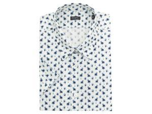 Palm Print Short Sleeved Shirt