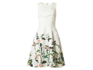 Secret Trellis Print Full Skirt Dress
