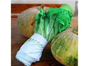 Simulation Lace Cabbage Umbrella 51CM*8K Pongee 3 Fold Creative Lettuce Shaped Rain Gear Sunshade Umbrella