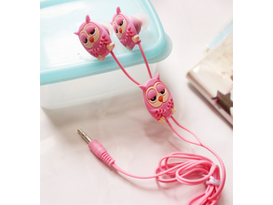 Creative Stereo earphones Owl style Cartoon mobile phone computer General In-Ear Audio-visual accessories & games headset
