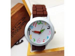 Geneva Silicone Jelly Watches Silicone + Metal Country Style Unisex Sports/Leisure & Pencil Pointer Watches