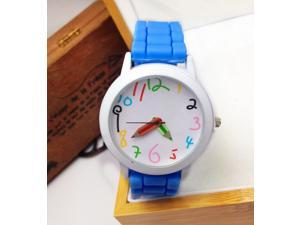 Geneva Pencil Pointer Watches Silicone + Metal Country Style Unisex Sports/Leisure & Silicone Jelly Watches