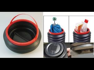 Automotive Supplies Retractable Storage Barrel 4 L High Temperature Resistant Material Popular Practical Wastebasket Magic Barrel