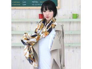 Compelling Woman Scarf Retro Decorative Pattern 160*60CM Chiffon Scarf Aristocratic Temperamental Woman's Scarf/Collarette & Shawl