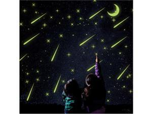 Dazzling Noctilucent Meteor Shower Wall Sticker 21 * 29.7 CM Romantic Night Sky Wall Sticker Vogue & Classic Fluorescent Wall Sticker