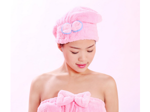 High-profile Women Dry Hair Cap Holy Crown Type Coral Fleece Dry Hair Towel Caps Princess Quick-drying Bath Cap
