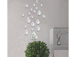 Eye-catching Luminous Wall Stickers Lifelike Water Droplets Shape Acrylic 3D Wall Stickers Vogue Home Decoration Mirror Wall Stickers