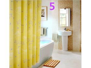 Printed Bath Curtain 180*180 CM Polyester Bathroom Accessories Waterproof Metal Eyelet Shower Curtain