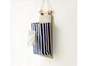 Folding Napkin Storage Bag Cotton Stripe Hanging Bag Folding Paper Towel Box Car Decoration Supplies Home Furnishing