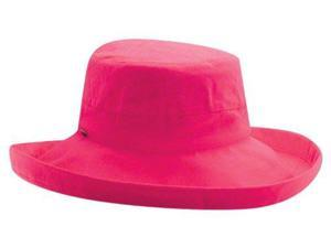 Cotton Big Brim Sun Lover Hat for Ladies, Fuchsia
