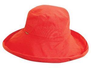 Cotton Big Brim Sun Lover Hat for Ladies, Coral