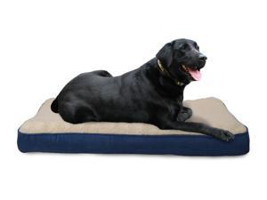 Jumbo Faux Sheepskin/Suede Deluxe Orthopedic Pet Bed - Navy