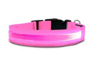 Furhaven Pet NAP Safety LED Light up Collar for Dogs (M) - Pink