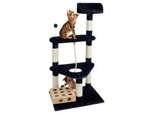 Furhaven Pet Products Cat Triangle Tower Playground