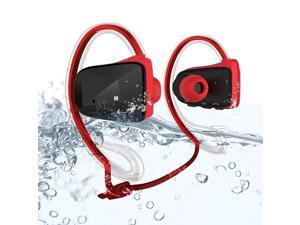 Waterproof Wireless Bluetooth 4.0 Sport In-ear Headphones - Red